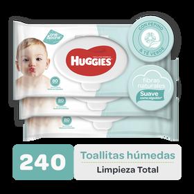 Toallitas Húmedas Huggies One & Done, 240uds
