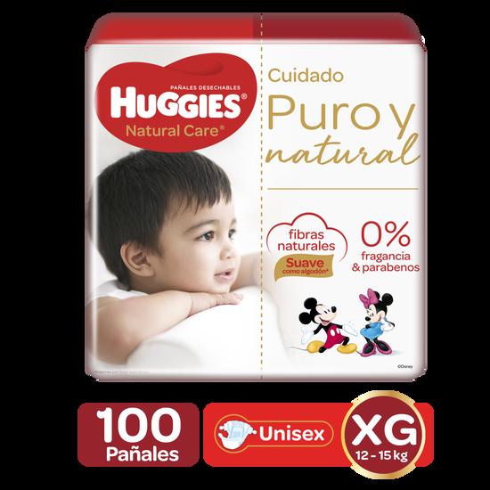 Pañales Huggies Natural Care XG, 100uds