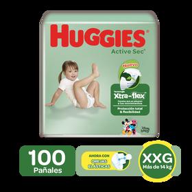 Pañales Huggies Active Sec Xtra-Flex XXG, 100uds