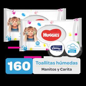 Combo Toallitas Húmedas Manitos y Carita, 160uds
