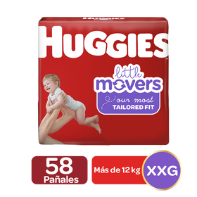 Pañales Huggies Little Movers Talla 5, 58uds