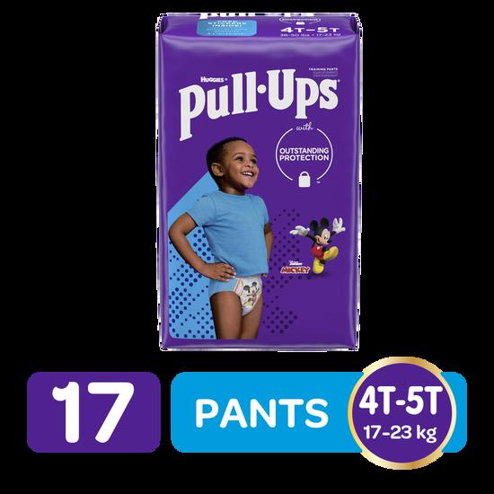Pants de Entrenamiento para Niños Huggies Pull Ups Tallas 4/5, 17uds