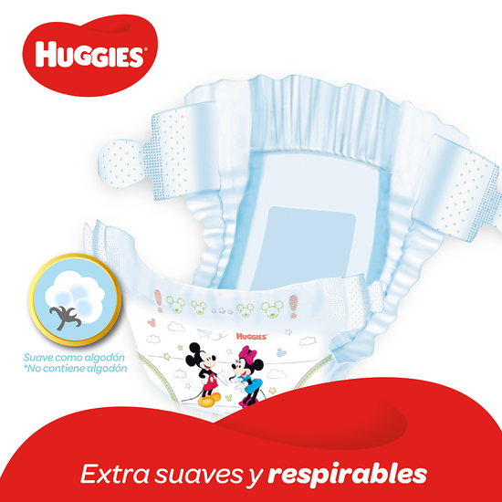 Pañales Huggies Natural Care XXG, 88uds
