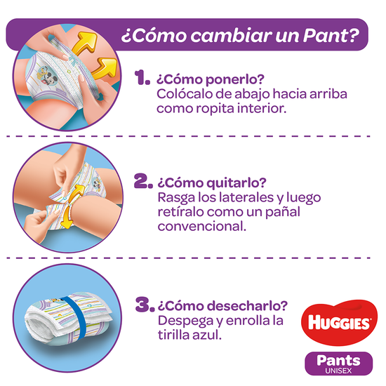 Pants Huggies Natural Care XG, 58uds