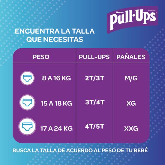 Combo Pull Ups para Niño 4T/5T, 17uds+Toallitas Húmedas 80uds