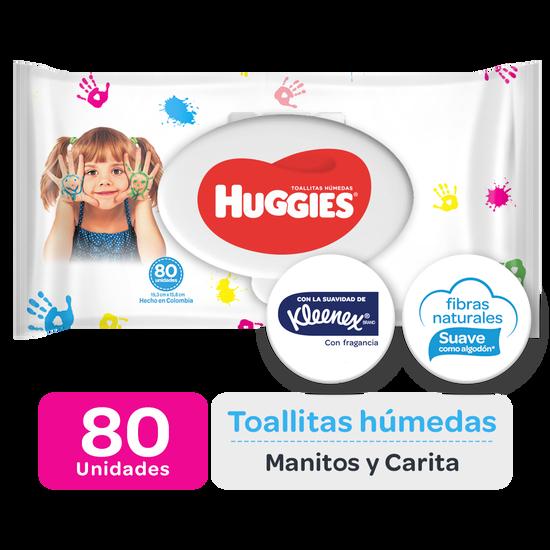 Toallitas Húmedas Huggies Manitos y Carita, 80uds