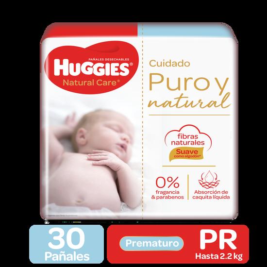 Pañales Huggies Natural Care Prematuro, 30uds