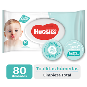 Toallitas Húmedas Huggies One & Done, 80uds