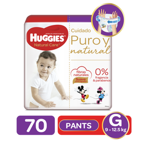 Pants Huggies Natural Care G, 70uds