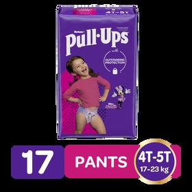 Pants de Entrenamiento para Niñas Huggies Pull Ups Tallas 4/5, 17uds